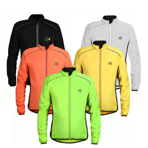 Cycling Jersey Thin Waterproof Riding Windbreaker