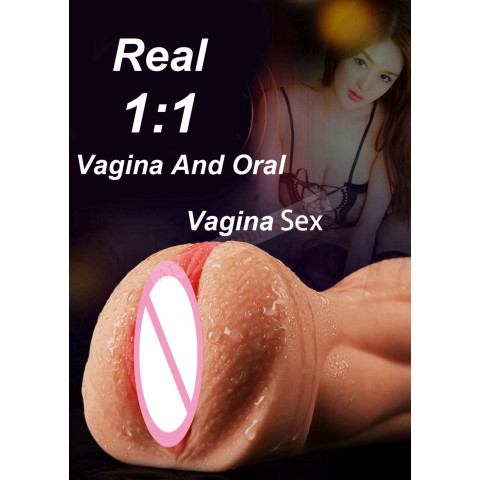 Realistic Oral 3D Deep Throat with Tongue Teeth Maiden Artificial Vagina Male Masturbator