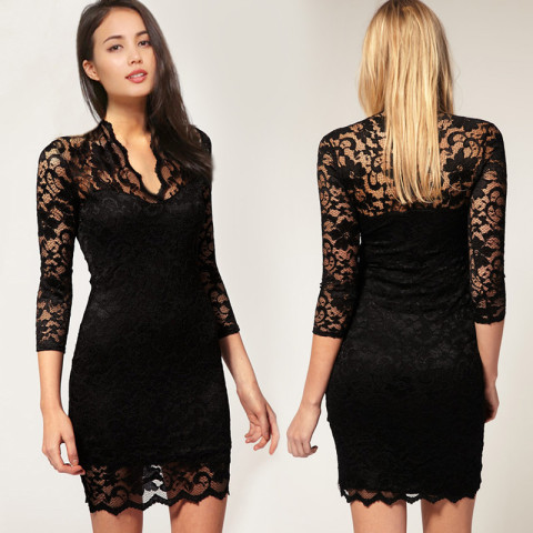 Lace slimming dress