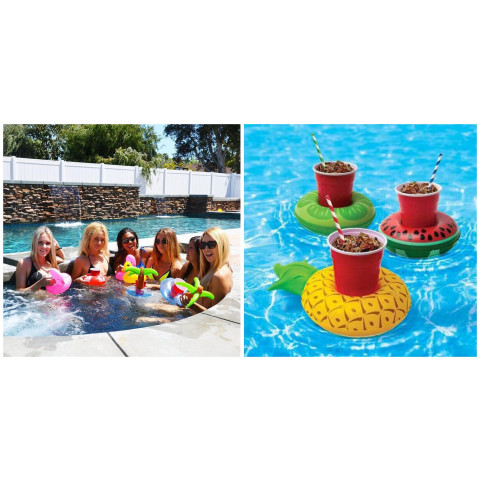 Swimming pool drink holder