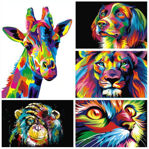 Animals Abstract Frameless Acrylic Paints Oil Picture By Numbers