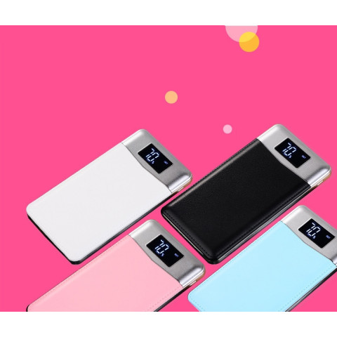 LCD Portable External Battery Mobile Phone Charger Power Bank