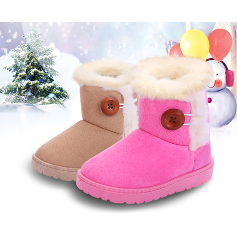 Toddler Winter Princess Child Shoes Non-slip Flat Boots