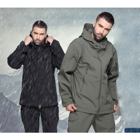 TAD Winter Shark Skin Military Windproof Tactical Softshell Jacket