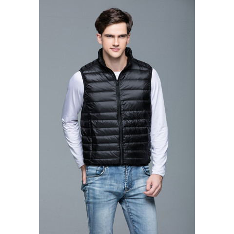 Men Winter Portability Warm White Duck Down vest