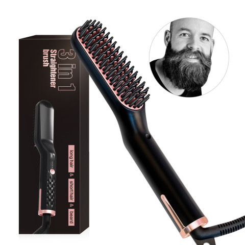 Men Beard Straightener Styling Multifunctional Hair Comb Brush