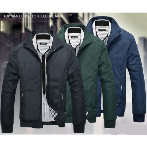 Solid color  casual jacket Outerwear Clothing