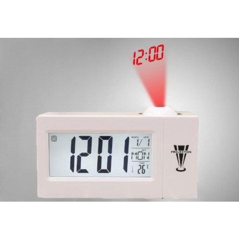 LCD Projection Voice Talking Alarm Clock Electronic Digital Projector Clock