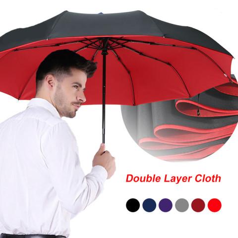 Windproof Double Automatic Folding Umbrella