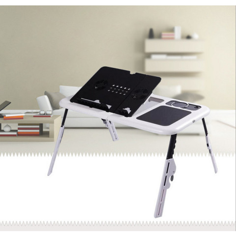 Adjustable Folding Laptop Table E-Table With Tray Cooling Fans