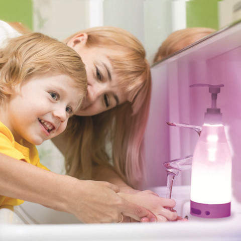 Lighted Liquid Soap Bottle