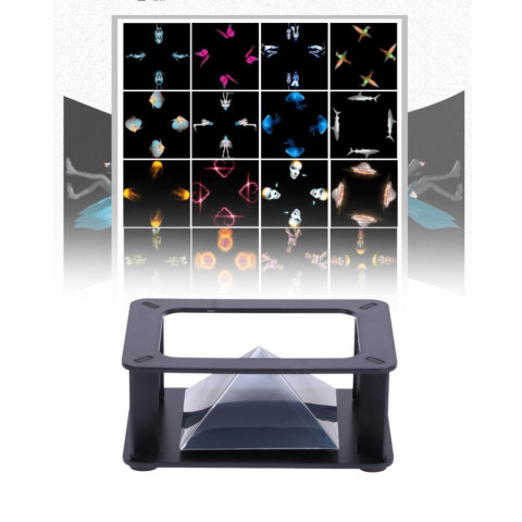 3D Hologram Display Stand Projector Pyramid Hologram Display