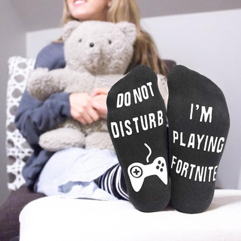 Unisex cotton DO NOT DISTURB I'M GAMING socks