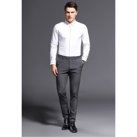 Men's Slim Fit Stretch Classic Casual Formal Straight Suits Long Pants