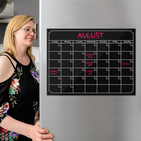 Calendar Magnetic Dry Erase Calendar Board Fridge Message Board