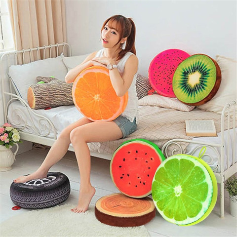 Creative 3D Fruit PP Cotton pillow Office Chair Back Cushions Home Decorative Throw Pillows