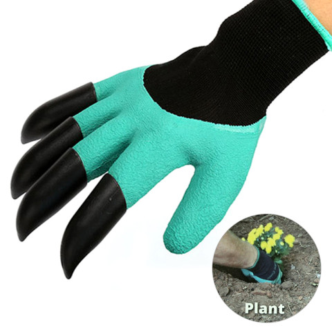 Gardening glove Digging & Planting Gloves with ABS Plastic Claws