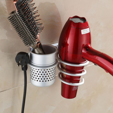 Aluminum Wall Mounted Hair Dryer Holder