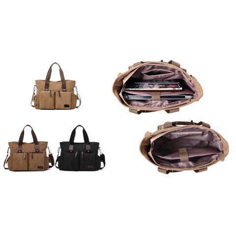 Men's Reto canvas handbag