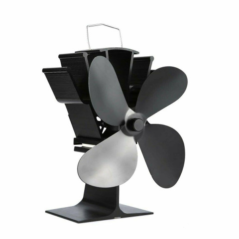 4 Blades Heat Powered Stove Top Fan