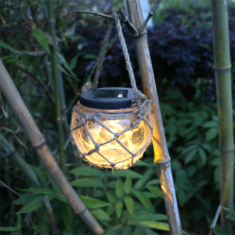 Solar glass jar garden decorative light