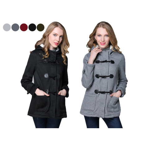 Women Thicken hooded jacket coat