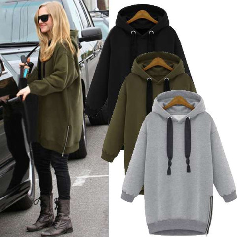 Women Long Sleeve Hooded Jacket