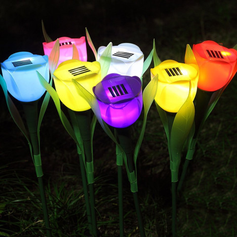 6pcs Garden Solar Tulip Lights