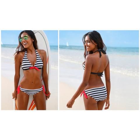 Women Stripe Bikini