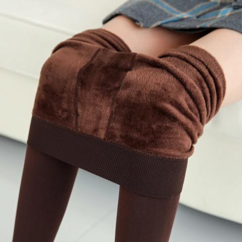 Women inside Thicken Plush Warm winter fleece pants female velvet leggins