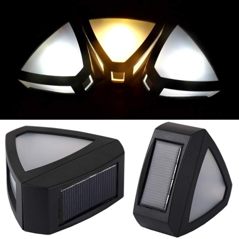 Retro solar wall lights