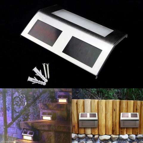 2 LED Solar Powered Panel Stairway Light