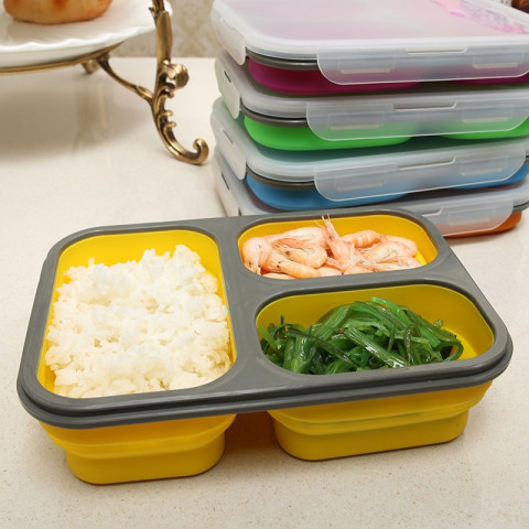 Microwave folding lunch box