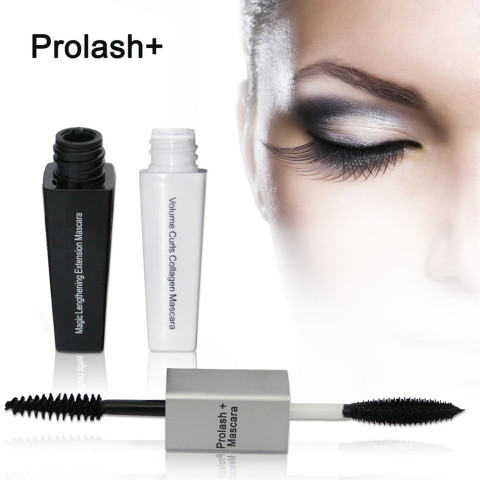 Prolash+ EPM Mascara Magic Lengthening Extension Volume Curls Collagen Mascara Double Fiber Lash Extender Eye Makeup