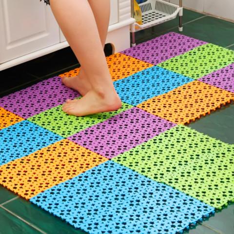 5pcs  Slip-Resistant Heart Shaped Mosaic PVC Bath Mat Home Bathroom Non-Slip Mat Massage Pad