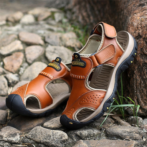 Men Genunie leather Sandals