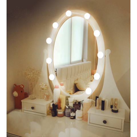 LED 12V Makeup Mirror Light Bulb Lights Stepless Dimmable Wall Lamp
