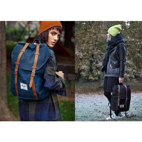 Vintage outdoor shoulder backpack