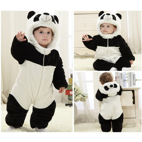 Panda style baby jumpsuit