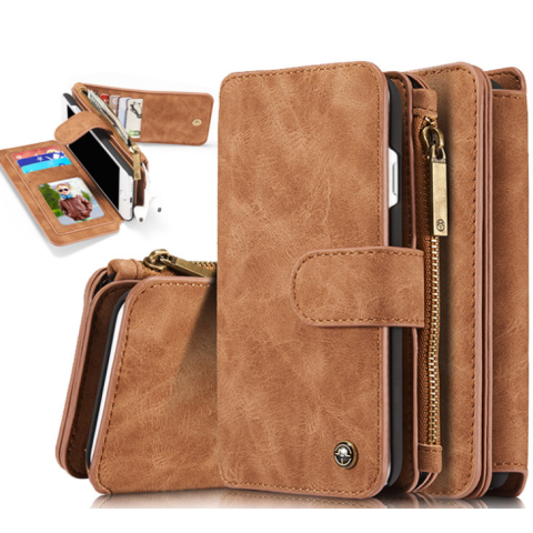 2in1 Cow leather smart phone wallet