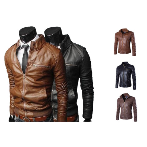 Fashion Men's PU leather Jackets