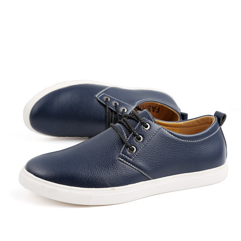 Men's casual leather fashion flat shoes