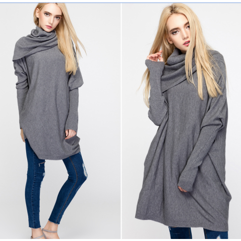 Fashion Casual High collar Sweater