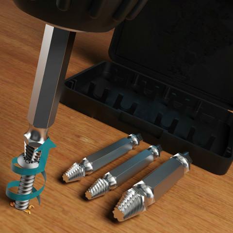 Broken Bolt Stud Removal Tool Kit