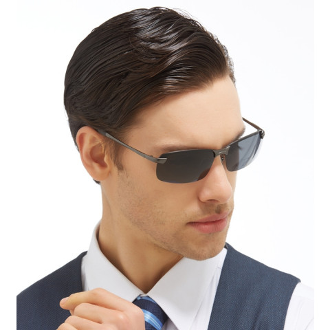 Anti-UV Polarized Rimless Sunglasses