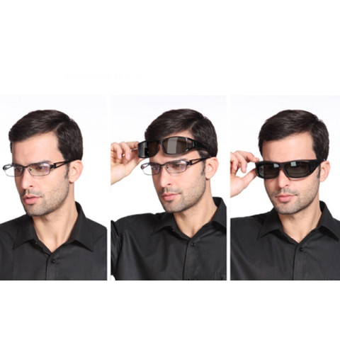 Men Myopia Mirror  Driving Sunglass Over Wrap Arounds Eyewear