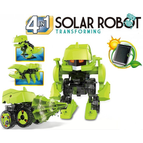 4 in 1 Solar DIY Educational Kit with moving legs and wheels