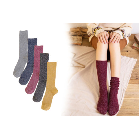Women Glitter Loose Socks