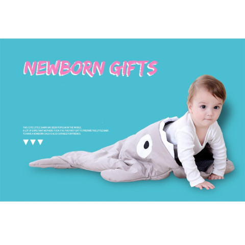 Shark Baby Cartoon Sleeping Bag Swaddling Blanket