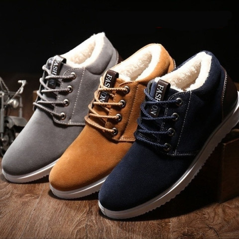 Casual Warm Cotton Flat Padded Shoes